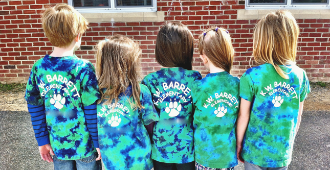 RMR Designs does custom screen printed Tie Dye Tees for schools and field trips